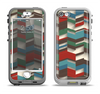 The Choppy 3d Red & Green Zigzag Pattern Apple iPhone 5-5s LifeProof Nuud Case Skin Set