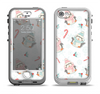 The Christmas Suited Fat Penguins Apple iPhone 5-5s LifeProof Nuud Case Skin Set