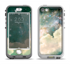 The Cloudy Grunge Green Universe Apple iPhone 5-5s LifeProof Nuud Case Skin Set