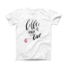 The Coffee is My Love ink-Fuzed Front Spot Graphic Unisex Soft-Fitted Tee Shirt