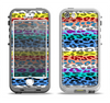 The Color Striped Vector Leopard Print Apple iPhone 5-5s LifeProof Nuud Case Skin Set