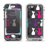 The Color Vector Cat Collage Apple iPhone 5-5s LifeProof Nuud Case Skin Set