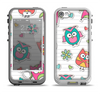 The Colored Cartoon Owl Cutouts on Paper Apple iPhone 5-5s LifeProof Nuud Case Skin Set