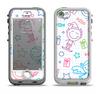 The Colored Happy Doodle Angels and Elves Apple iPhone 5-5s LifeProof Nuud Case Skin Set