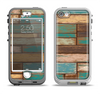 The Colored Vintage Solid Wood Planks Apple iPhone 5-5s LifeProof Nuud Case Skin Set