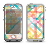 The Colorful Abstract Plaid Intersect Apple iPhone 5-5s LifeProof Nuud Case Skin Set