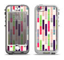 The Colorful Abstract Plaided Stripes Apple iPhone 5-5s LifeProof Nuud Case Skin Set