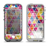 The Colorful Abstract Stacked Triangles Apple iPhone 5-5s LifeProof Nuud Case Skin Set