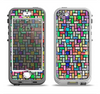 The Colorful Abstract Tiled Apple iPhone 5-5s LifeProof Nuud Case Skin Set
