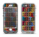 The Colorful Anchor Vector Collage Pattern Apple iPhone 5-5s LifeProof Nuud Case Skin Set