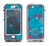 The Colorful Blue and Red Starfish Shapes Apple iPhone 5-5s LifeProof Nuud Case Skin Set