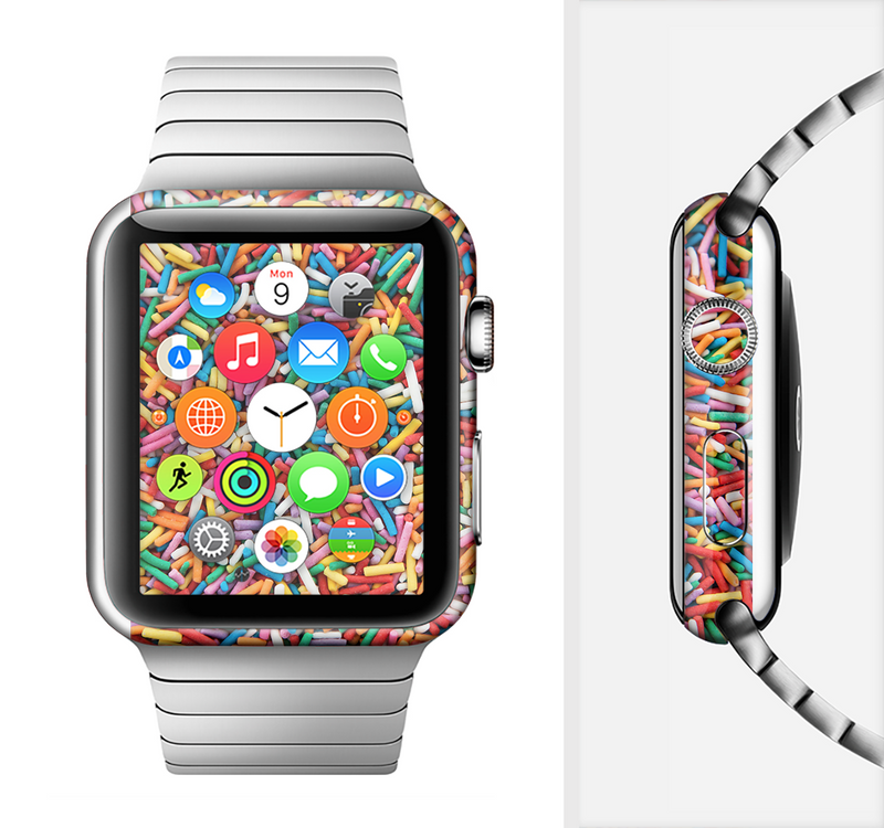 The Colorful Candy Sprinkles Full-Body Skin Set for the Apple Watch