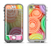 The Colorful Candy Swirls Apple iPhone 5-5s LifeProof Nuud Case Skin Set