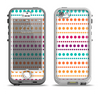 The Colorful Polka Dots on White Apple iPhone 5-5s LifeProof Nuud Case Skin Set