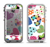 The Colorful Polkadot Hearts Apple iPhone 5-5s LifeProof Nuud Case Skin Set