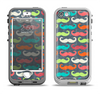The Colorful Scratched Mustache Pattern Apple iPhone 5-5s LifeProof Nuud Case Skin Set
