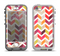 The Colorful Segmented Scratched ZigZag Apple iPhone 5-5s LifeProof Nuud Case Skin Set