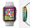 The Colorful Segmented Wheels Full-Body Skin Set for the Apple Watch