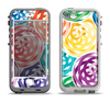 The Colorful Spiral Eclipse Apple iPhone 5-5s LifeProof Nuud Case Skin Set