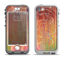 The Colorful Stripes and Swirls V43 Apple iPhone 5-5s LifeProof Nuud Case Skin Set