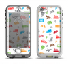 The Colorful Travel Collage Pattern Apple iPhone 5-5s LifeProof Nuud Case Skin Set