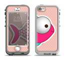 The Colorful Vector Big-Eyed Fish Apple iPhone 5-5s LifeProof Nuud Case Skin Set