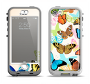 The Colorful Vector Butterflies Apple iPhone 5-5s LifeProof Nuud Case Skin Set