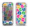 The Colorful Vector Footprints Apple iPhone 5-5s LifeProof Nuud Case Skin Set
