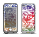 The Colorful Vector Zebra Animal Print Apple iPhone 5-5s LifeProof Nuud Case Skin Set