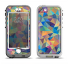 The Colorful Vibrant Triangle Connect Pattern Apple iPhone 5-5s LifeProof Nuud Case Skin Set