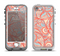 The Coral Abstract Pattern V34 Apple iPhone 5-5s LifeProof Nuud Case Skin Set
