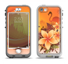 The Coral Colored Floral Pelical Apple iPhone 5-5s LifeProof Nuud Case Skin Set
