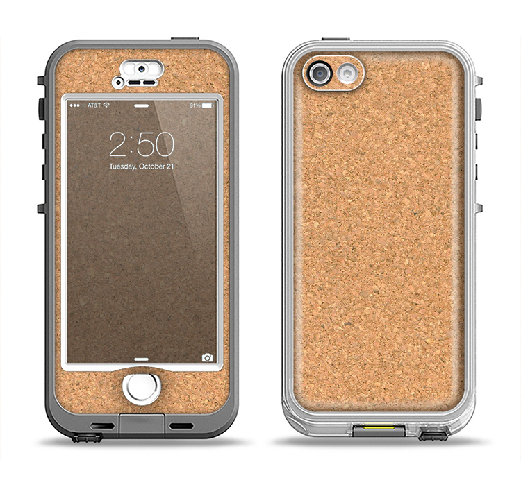 The CorkBoard Apple iPhone 5-5s LifeProof Nuud Case Skin Set