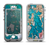 The Cracked Multicolored Paint Apple iPhone 5-5s LifeProof Nuud Case Skin Set