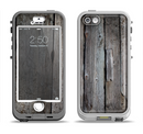 The Cracked Wooden Planks Apple iPhone 5-5s LifeProof Nuud Case Skin Set