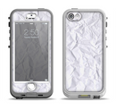 The Crumpled White Paper Apple iPhone 5-5s LifeProof Nuud Case Skin Set
