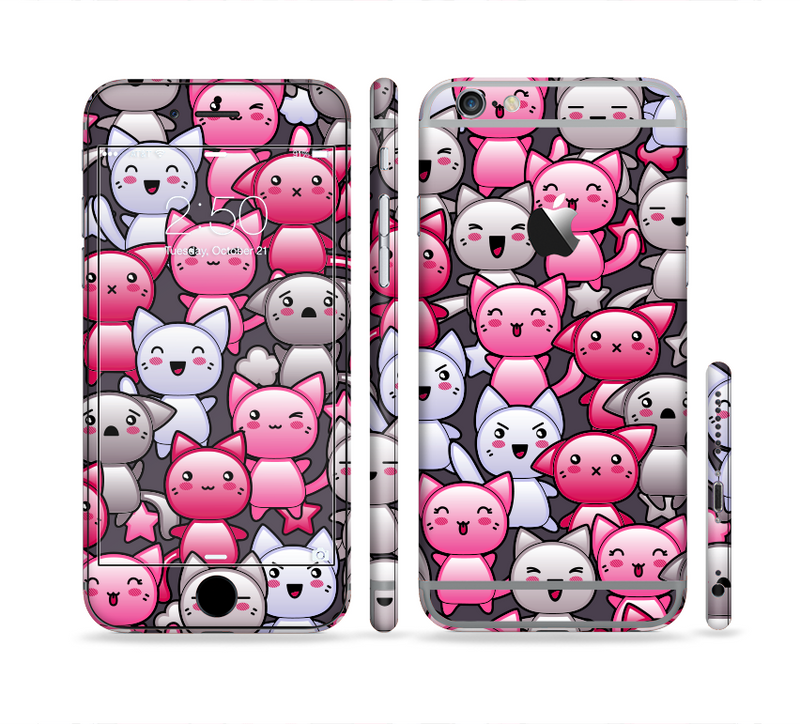 The Cute Abstract Kittens Sectioned Skin Series for the Apple iPhone 6/6s Plus