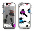 The Cute Fashion Cats Apple iPhone 5-5s LifeProof Nuud Case Skin Set