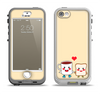 The Cute Toast & Mug Breakfast Couple Apple iPhone 5-5s LifeProof Nuud Case Skin Set