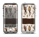 The Dancing Aztec Masked Cave-Men Apple iPhone 5-5s LifeProof Nuud Case Skin Set