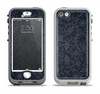 The Dark Black & Purple Delicate Pattern Apple iPhone 5-5s LifeProof Nuud Case Skin Set