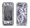The Dark Blue & White Lace Design Apple iPhone 5-5s LifeProof Nuud Case Skin Set