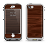 The Dark Brown Wood Grain Apple iPhone 5-5s LifeProof Nuud Case Skin Set