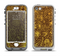 The Dark Brown and Gold Sketched Lace Patterns v21 Apple iPhone 5-5s LifeProof Nuud Case Skin Set