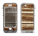 The Dark Highlighted Old Wood Apple iPhone 5-5s LifeProof Nuud Case Skin Set
