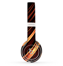 The Dark Orange Shadow Fabric Skin Set for the Beats by Dre Solo 2 Wireless Headphones