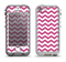 The Dark Pink & White Chevron Pattern V2 Apple iPhone 5-5s LifeProof Nuud Case Skin Set