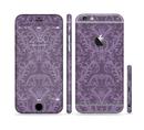 The Dark Purple Delicate Pattern Sectioned Skin Series for the Apple iPhone 6/6s Plus