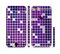The Dark Purple Squares Pattern Sectioned Skin Series for the Apple iPhone 6/6s Plus