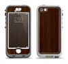The Dark Quartered Wood Apple iPhone 5-5s LifeProof Nuud Case Skin Set